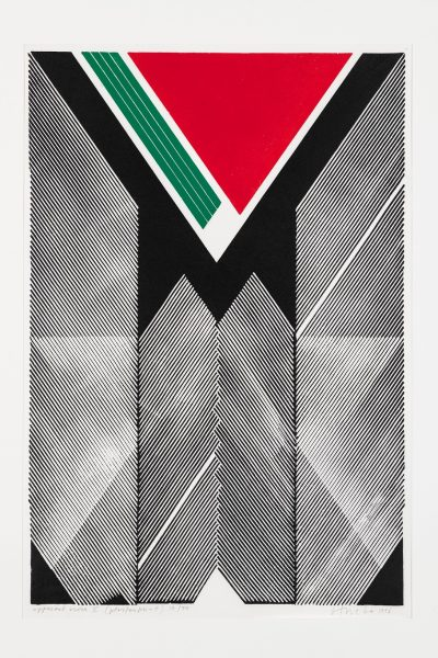 Ryszard Otreba, Pozorna harmonia V, gipsoryt, 76 x 51,5 cm, 1996
