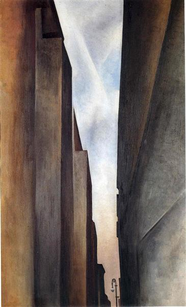 "Georgia O'Keeffe, ""Street of New York II"", 1926."