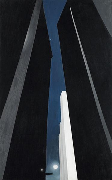 "Georgia O'Keeffe, ""City Night"", 1926."