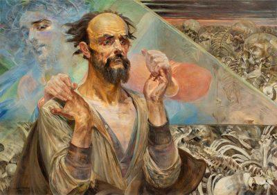 Jacek Malczewski, Wizja Ezechiela, 1917 rok, źródło: Polswiss Art
