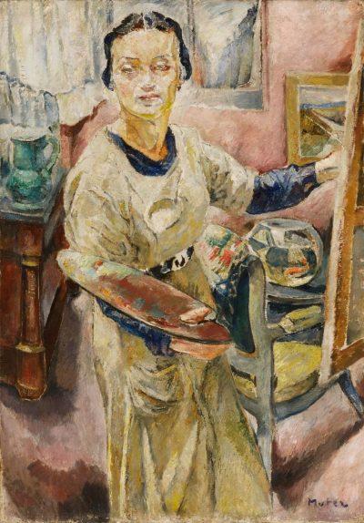 Mela Muter, Autoportret, około 1921, źródło: desa.pl