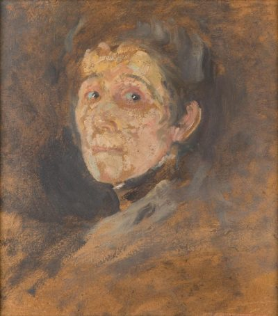 Olga Boznańska, Autoportret, około 1930 rok, źródło: desa.pl