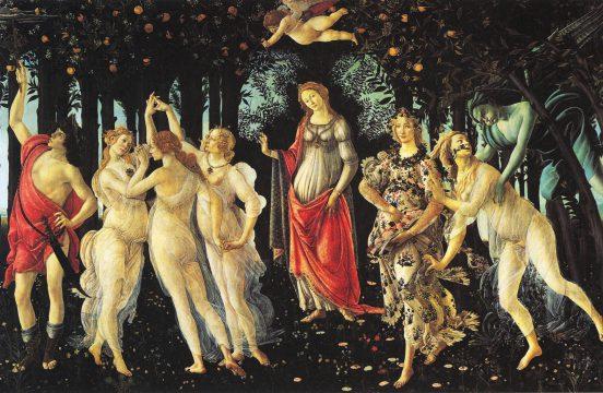 """Sandro Botticelli, """"Primavera"""", 1478 - 1482, Galleria Uffizi."""