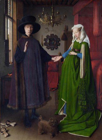 "National Gallery / Jan van Eyck, ""Portret małżonków Arnolfinich"", 1434."