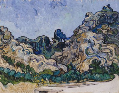 "Muzeum Guggenheima / Vincent van Gogh, ""Góry w Saint-Rémy"", 1889."