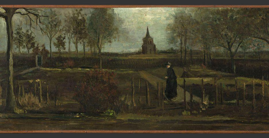Vincent van Gogh, The Parsonage Garden at Nuenen in Spring, 1884, Groninger Museum, loan from Municipality of Groningen, photo: Marten de Leeuw