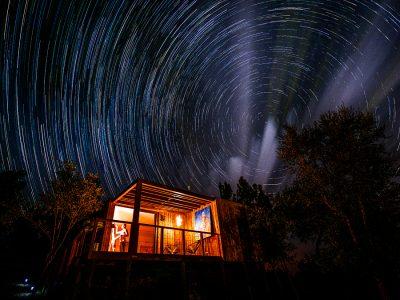 Zdjęcie pracowni nocą, fot. Łukasz Bożycki