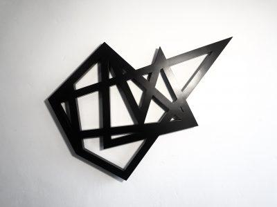 Jarosław Borek, z cyklu Geometrony, rzeźba ze stali