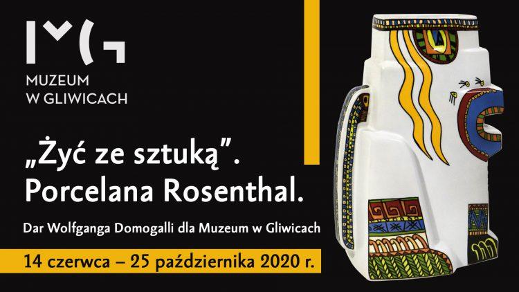 """""""Żyć ze sztuką"""". Porcelana Rosenthal. Dar Wolfganga Domogalli dla Muzeum w Gliwicach"""
