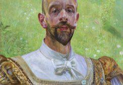 """""""Autoportret z kwiatem koniczyny"""" autorstwa Jacka Malczewskiego na aukcji"""