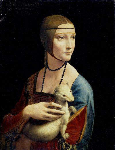 Portret damy z gronostajem (zwyczajowo Dama z łasiczką) – obraz autorstwa Leonarda da Vinci znajduje się w zbiorach Muzeum Czartoryskich w Krakowie