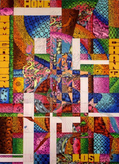 Tenzing Rigdol My Kind of Story, 2007 Pastel and watercolour 120 x 90 cm Courtesy Rossi & Rossi, London, Hong Kong, Targi Sztuki Artissima
