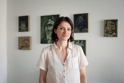 Julia Medyńska w pracowni