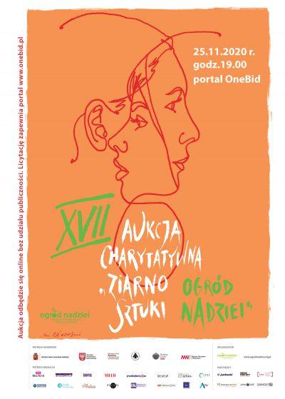 """XVII Aukcja Charytatywna """"ziarno SZTUKI – ogród NADZIEI"""" swoimi dziełami wspiera ponad 50 artystów"""