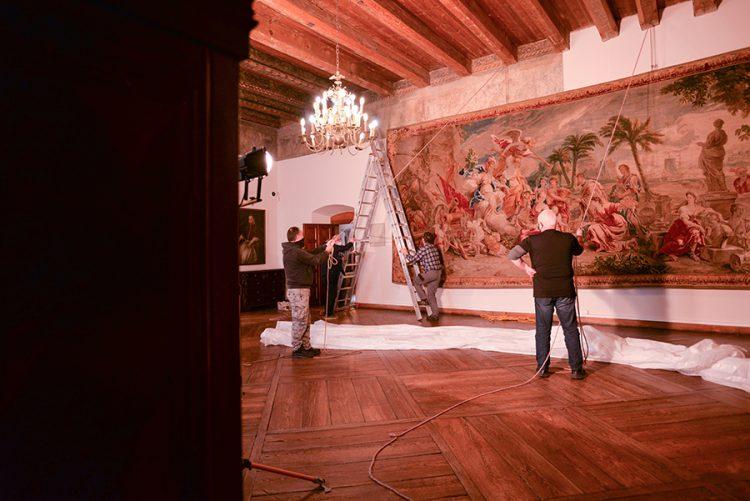 Renowacja tapiserii, Muzeum Narodowe w Kielcach