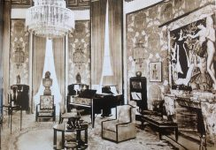 Salon Hoteludu Collectionneurna Międzynarodowej Wystawie Sztuk Dekoracyjnych w Paryżu w 1925 r. Zaprojektowany przez Emile Jacques Ruhlmann (1879–1933)