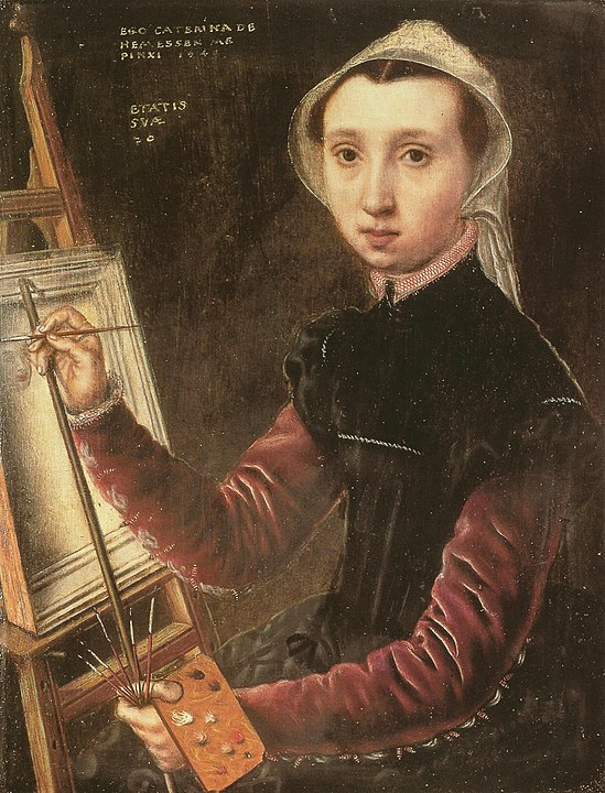 "Caterina van Hemessen, ""Autoportret"", 1548, źródło: Wikimedia Commons"