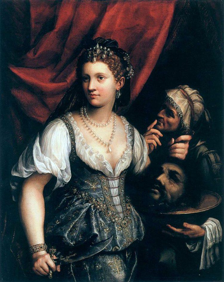 """Fede Galizia, """"Judyta z głową Holofernesa"""", ok. 1596, źródło: Wikimedia Commons"""