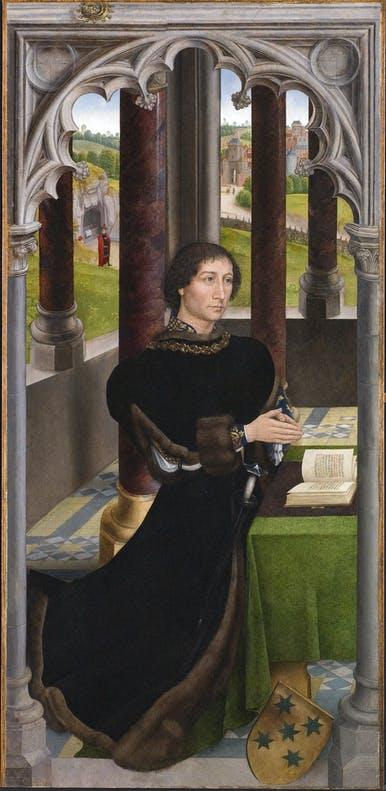 Hans Memling, Portret Francisco (?) De Rojas, ok. 1470, źródło: museabrugge.be