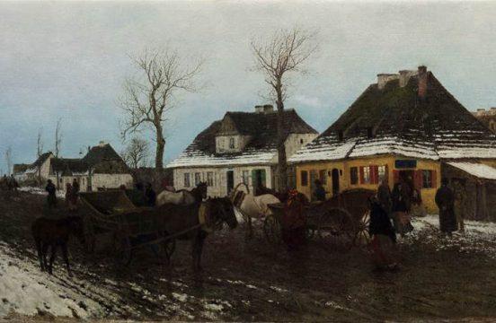 Maksymilian Gierymski, Zima w małym miasteczku, 1872, fot. Pracownia MNK
